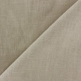 Washed Linen (135cm) Fabric - Light Brown x 10cm