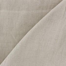 Tissu lin lavé (laize: 135cm) beige clair x 10cm