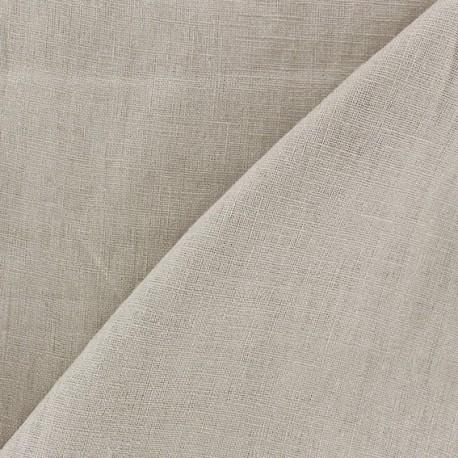 Tissu lin biologique beige clair x 10cm