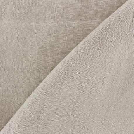 Washed Linen (135cm) Fabric - Light Beige x 10cm