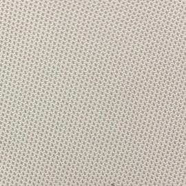 Tissu jersey résille beige x 10 cm