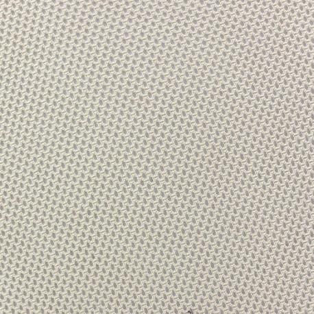 Tissu polyester résille beige x 10 cm