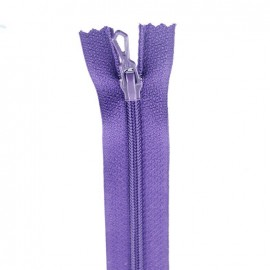 Closed bottom zipper - dark purple