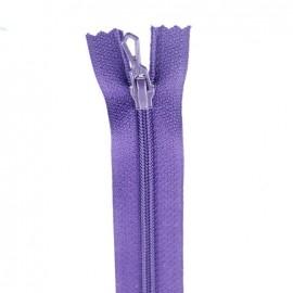 Fermeture Eclair® non séparable - violet foncé