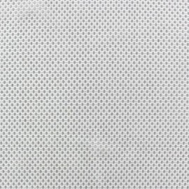 Jersey fishnet fabric - white x 10cm