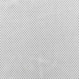 Tissu polyester résille blanc x 10 cm