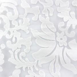 Tissu Organza brodé Arabesque Ecru x 10cm