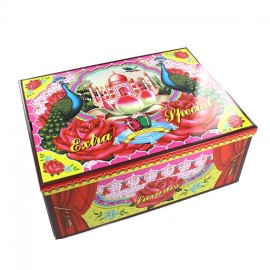 "Extra special storage box ""Peacock"" - multicolored"