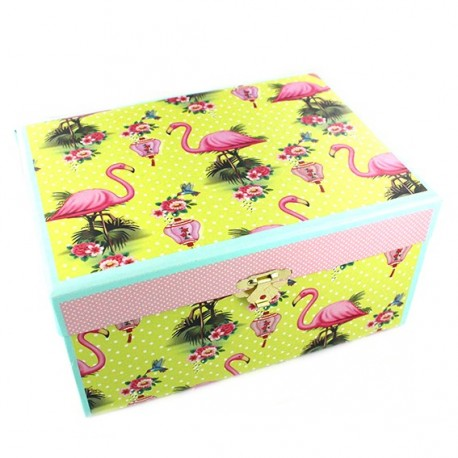 "Jewelry box ""Flamingo"" - multicolored"