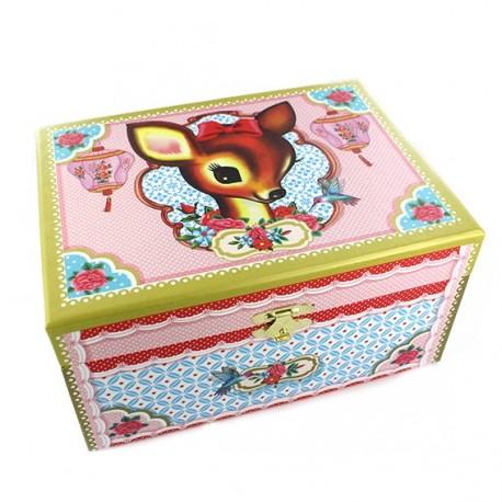 "Jewelry box ""Doe eyes"" - multicolored"