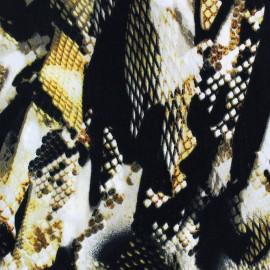 Tissu Satin Snake's Glint Jaune x  50cm
