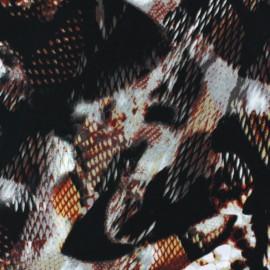 Tissu Satin Snake's Glint Auburn x  50cm