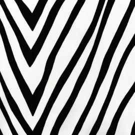 Tissu Satin Zebra fond blanc x  50cm