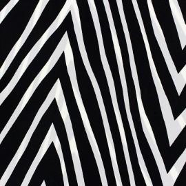 Zebra Satin Fabric - Black x  50cm
