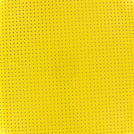 ♥ Coupon 135 cm X 43 cm ♥  Lacquered Drilled Vinyl Fabric - Yellow
