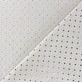 Imitation leather Stars soft perforated - raw x 10cm