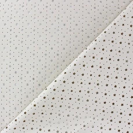 Simili cuir souple ajouré Stars grège x 10cm
