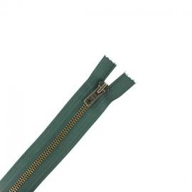 Brass Separating zipper - lichen green