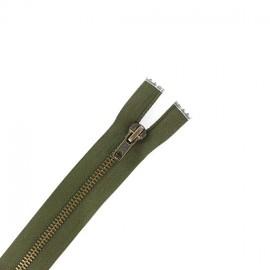 Brass Separating zipper - dark khaki