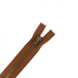 Brass Separating zipper - brown