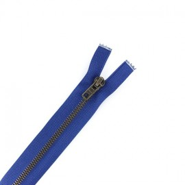 Brass Separating zipper - bugatti blue