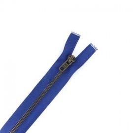 Fermeture Eclair® laiton séparable bleu bugatti