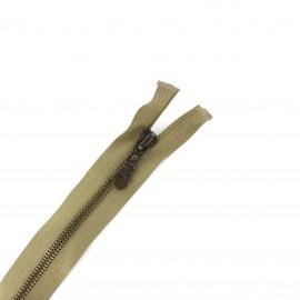 Brass Separating zipper - antelope beige