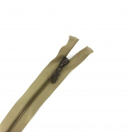 Fermeture Eclair® laiton séparable beige antilope