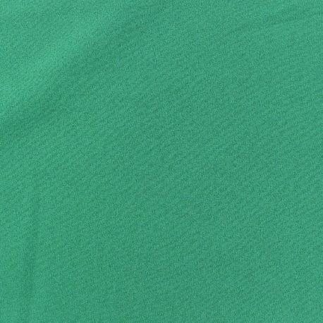Tissu Crêpe Chemisier vert prairie x10cm
