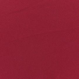 Tissu Crêpe Chemisier grenat x10cm