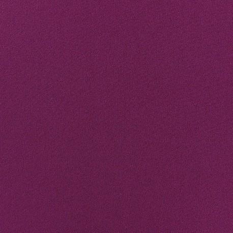 Tissu Crêpe Chemisier aubergine x 10cm