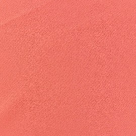 Tissu Crêpe Chemisier corail x 10cm