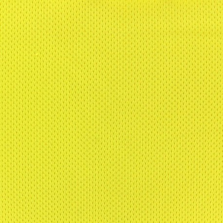 Fishnet jersey sport fabric - Yellow x 10cm