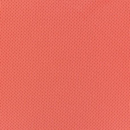 Fishnet jersey sport fabric - Orange x 10cm