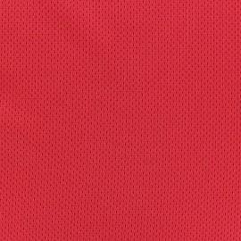 Tissu Jersey résille sport rouge x 10cm