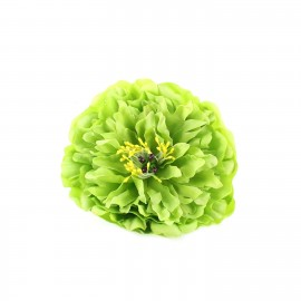 peony hair-clip - green
