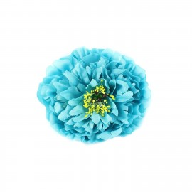 peony hair-clip - turquoise