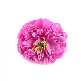peony hair-clip - pink