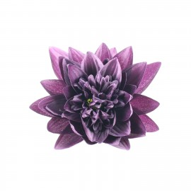Water Lily hair-clip - purple