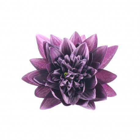 water lily hair clip   purple   ma petite mercerie