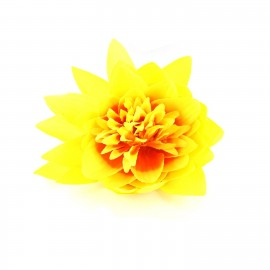 Water Lily hair-clip - yellow