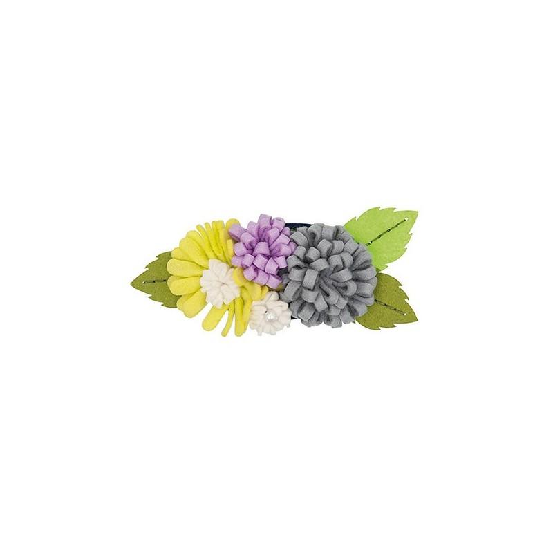 Kit broche bouquet de fleurs mauve vert ma petite mercerie for Bouquet de fleurs 10