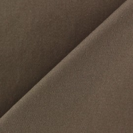 ♥ Coupon 55 cm X 130 cm ♥Mat Lycra Gabardine Fabric V2 - Light Brown