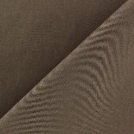 Tissu Gabardine Lycra mat v.2 brun x 10cm
