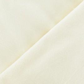 Tissu velours minkee doux ras écru x 10cm