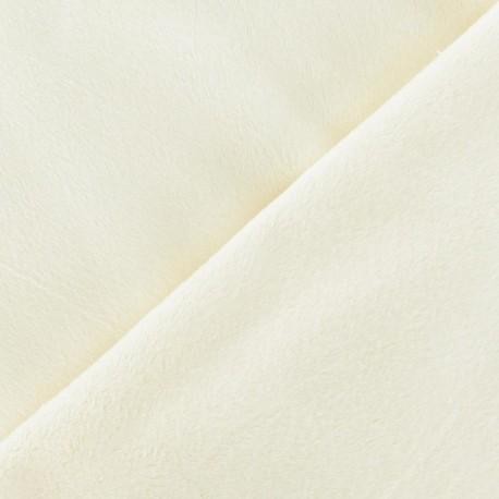Soft short minkee velvet Fabric - ecru x 10cm