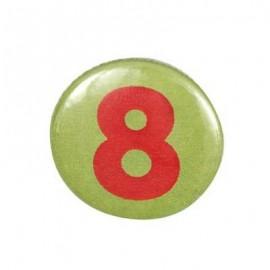 Badge chiffre 8