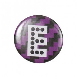 "Fantasy Pin-on button badge Alphabet ""letter E"" - purple"