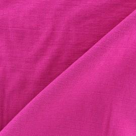 Crinkled Viscose Fabric - Fuchsia x 10cm