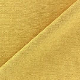 Tissu viscose jaune x10cm